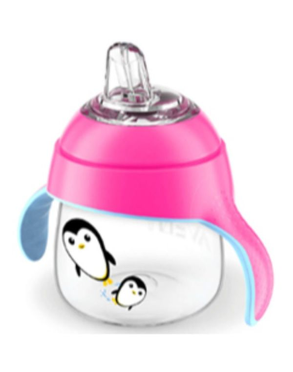 Avent Penguin Drinking Cup 6m+, 200ml Pink SCF75107P