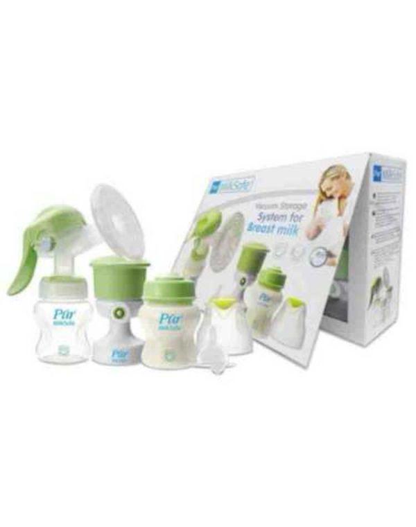 Pur Milksafe Breast Pump with 5oz Bottle & Vacuum Pump in Box Code-9809