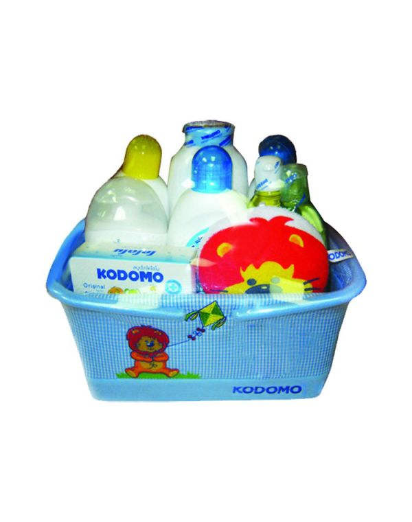 Kodomo gift set- Basket, 10pcs, Blue Color KDM 712-B