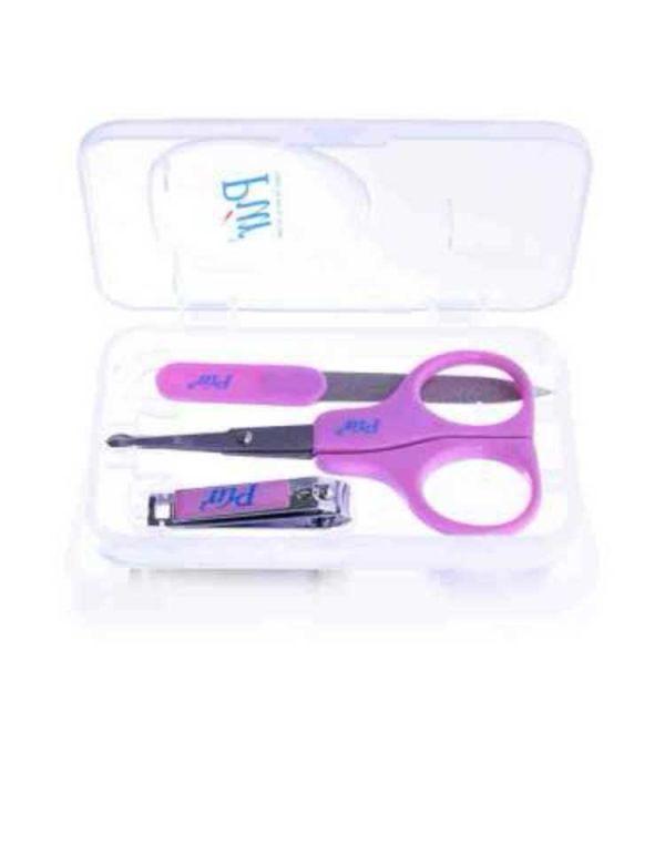 Pur Manicure Set In Travel Case (Scissor, Nail Cutter, Nail File) Code-6508 1