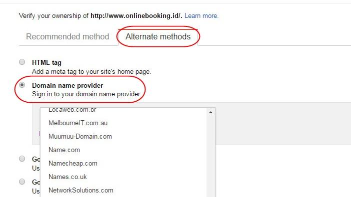 domain name provider