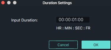 duration setting