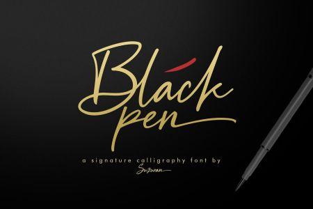 Black Pen Script Font Download