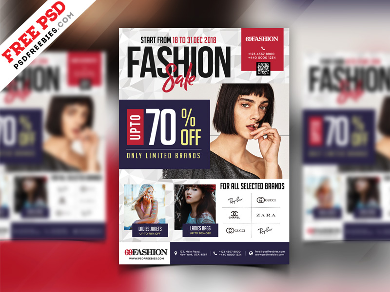 Exclusive Sale Flyer Design Free PSD