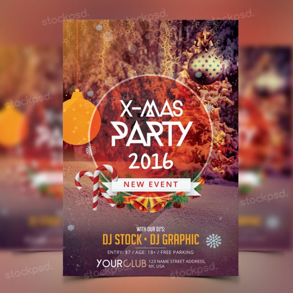 X-MAS PARTY PSD FREEBIE FLYER
