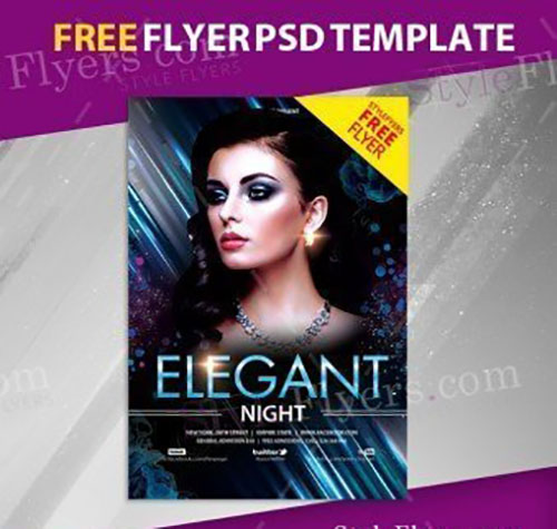 Elegant Night FREE PSD Flyer Template