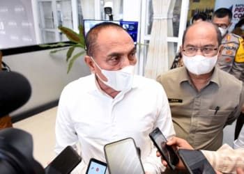 Gubernur Sumatera Utara (Sumut) Edy Rahmayadi usai pada Rapat Persiapan Pelaksanaan Pilkada Serentak 2020