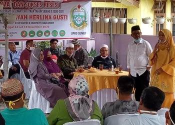 Reses I DPRD Sumut Tahun Sidang II 2020-2021, Dra. Hj. Hidayah Herlina Gusti Tampung Aspirasi Masyarakat