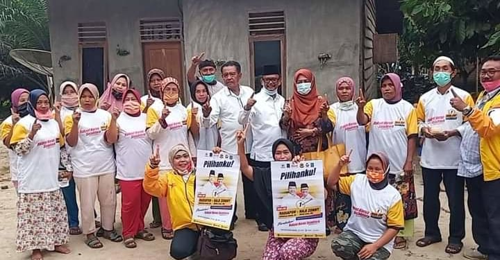 Calon Wakil Bupati Simalungun, Haji Zonny Waldi saat di Nagori Tangga Batu, Kecamatan Hatonduhan