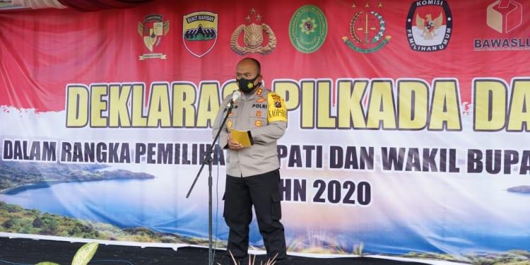 Kapolres Simalungun AKBP Agus Waluyo, SIK pimpin Deklarasi Pilkada Damai dan Doa Bersama