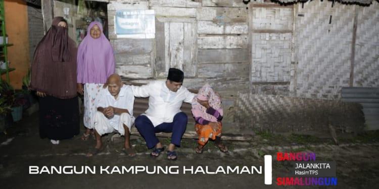 H Muhajidin Nur Hasim Kunjungi Rumah Tidak Layak Huni, di Kampung Baru, Kelurahan Kerasaan I, Kecamatan Pematang Bandar, Kabupaten Simalungun