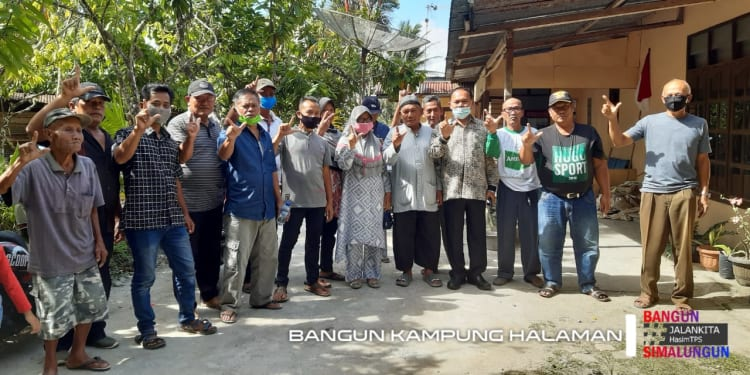 Calon Wakil Bupati Simalungun nomor urut 2, Tumpak Siregar saat Silaturahmi dengan Warga Nagori Birong Ulu Manria, Kecamatan Sidamanik