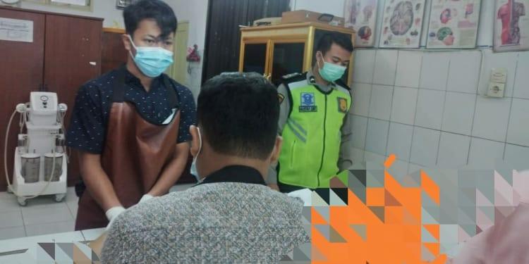 Jasad Rado Parulian Saragih  saat di Rumah Sakit