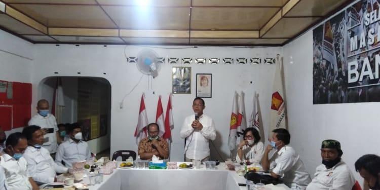 Ketua DPD Partai Gerindra Sumut Gus Irawan Pasaribu memberikan arahan dihadapkan pengurus DPC Partai Gerindra Kota Siantar dan Simalungun yang dihadiri Ir Asner Silalahi MT.
