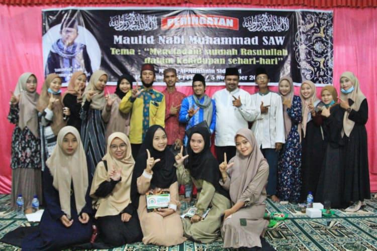 , H Muhajidin Nur Hasim di Acara Peringatan Maulid Nabi Muhammad SAW 1442 H di Masjid Al Muhsinin Nagori Sidotani