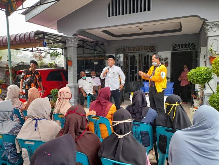 alon Bupati Kabupaten Simalungun nomor urut 1, Radiapoh Hasiholan Sinaga (RHS) Blusukan di Kecamatan Bandar