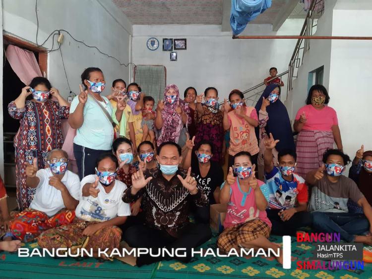 Calon Wakil Bupati Simalungun, Tumpak Siregar bersama Warga Nagori Bah Narundut, Kecamatan Bandar Masilam