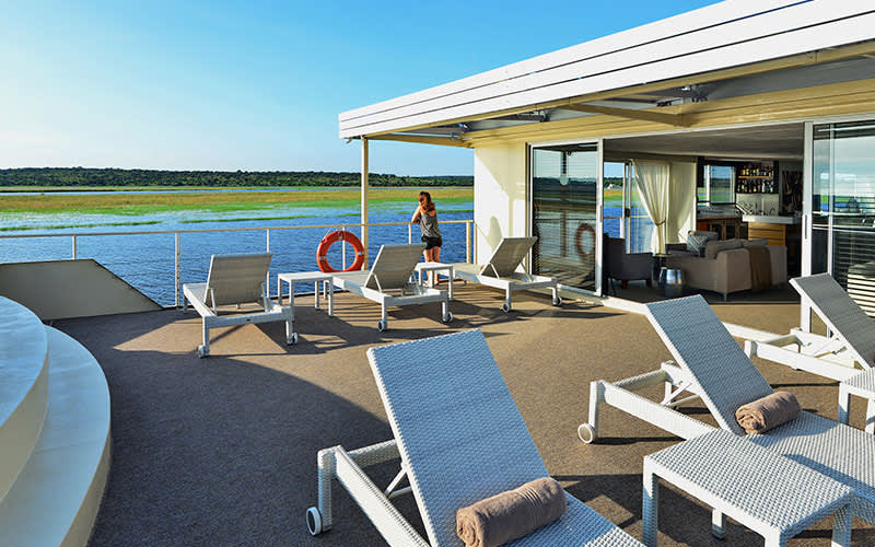 Sun Deck aboard Zambezi Queen - AmaWaterways