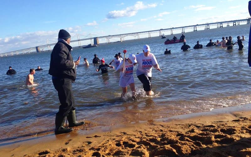 Polar Bear Plunge with Team Carnival