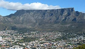 Table Mountin in Cape Town - AmaWaterways