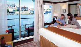 Stateroom aboard AmaDouro