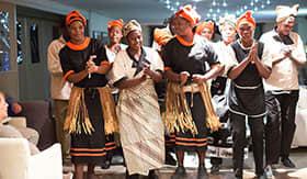 Crew aboard Zambezi Queen