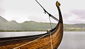 Artic Cruise Viking ship in Lofoten Islands, Norway