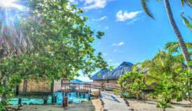 Relax on the beach in beautiful Bora Bora