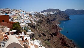 Azamara Club Cruises Village of Oai Santorini Greece coastline