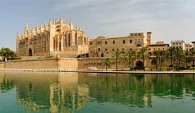 Carnival Cruise Lines architecture of Palma de Mallorca Spain