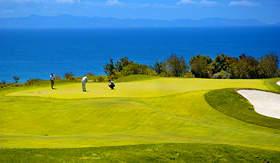 Carnival Cruise Lines golfing near Santa Catalina Island