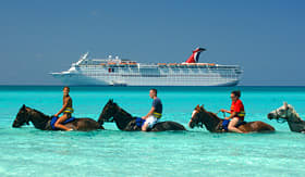 Carnival Cruise Lines horseback riding in The Caribbean