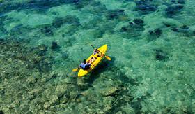 Carnival Cruise Lines kayaking in Fort Hamilton, Bermuda