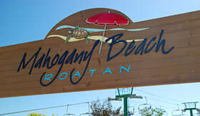 Carnival Cruise Lines Mahogany Beach Welcome Sign