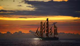 Carnival Cruise Lines ocean sunset in Puerto Vallarta