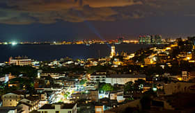 Carnival Cruise Lines Puerto Vallarta skyline in Mexico