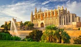 Santa Maria Cathedral in Palma de Mallorca, Spain