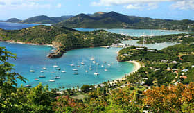 Carnival Cruise Lines view of English Harbor in Antigua