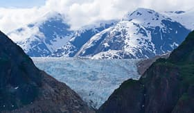 Carnival Cruise Lines view of Tracy Arm fjord