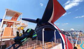 Bolt Rollercoast aboard Carnival Mardi Gras