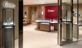 Onboard Cartier store aboard Celebrity Millennium