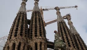 Spires of La Sagrada Familia