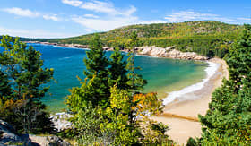 Celebrity Cruises beach in Acadia National Park in Bar Harbor Maine