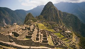Celebrity Cruises beautiful view over looking Machu Picchu