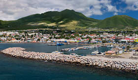Celebrity Cruises panorama of the port of Basseterre St Kitts