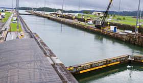Celebrity Cruises pool at Gatun Locks on the Panama Canal