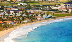 Celebrity Cruises resort beach at Basseterre on St Kitts Caribbean