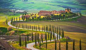 Celebrity Cruises Sunny fields of Tuscany, Italy