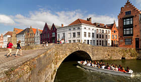 Celebrity Cruises touring the town of Bruges Belgium