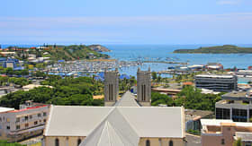 Celebrity Cruises view of the town and coast of Noumea New Caledonia